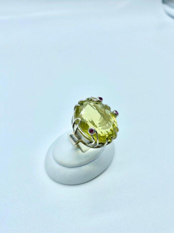 anello quarzo lemon 2