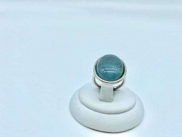 anello rotondo turchese