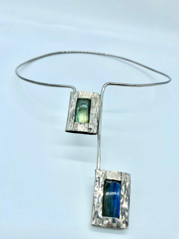 collana argento e labradorite 2